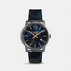 COACH/蔻驰  男士 高端系列 Bleecke不锈钢表壳和瘦款真皮表带腕表 W1399图片