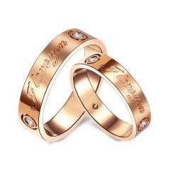 Magifas/Magifas【定制】 永恒的爱 18K金情侣钻石戒指 订婚结婚戒指 工期约15-20天玫瑰金色 男款 21号图片
