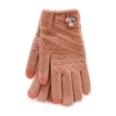 Laq Design 安卓Apple/苹果 手机电脑 菱形格纹触摸屏两指触控保暖手套 女款图片