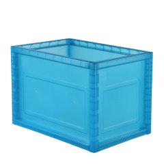 SHUTER/树德 创意组合收纳箱中号 宜家零食环保塑料房间储物置物 前后卡榫坚固不倒塌 白色 均码图片