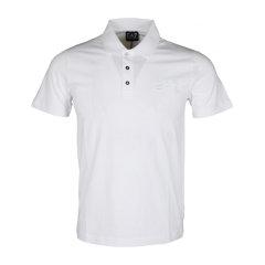 Emporio Armani/安普里奥阿玛尼   EA7男士白色纯棉Polo领短袖T恤图片