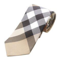 BURBERRY/博柏利 男士经典格纹桑蚕丝商务正装领带 3979212