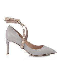【奢品节可用券】Valentino/华伦天奴Rockstud Ankle女士小牛皮铆钉高跟鞋 QW1S0E48CBL797图片