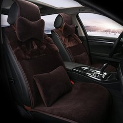 pinganzhe  汽车新款秋冬季纯羊毛座垫 汽车坐垫 带羊毛头枕腰靠各一对图片