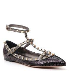 华伦天奴/Valentino 18年秋冬 女士 铆钉 尖头鞋 粉色 女士休闲运动鞋 QW1S0376#YVN#NOC图片