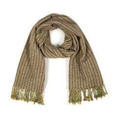 SHOKAY/绣嘉 秋冬新品高原系列垂直条纹牦牛绒羊绒混纺披肩围巾图片