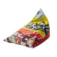 MRLAZY儿童系列拼接趣味丝绒粽子款懒人沙发图片
