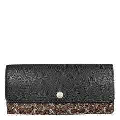 COACH/蔻驰 女士拼色PVC长款信封钱包 F52448图片