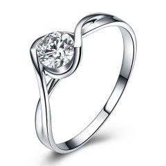 ZOCAI/佐卡伊 白18k金时尚名媛结婚求婚戒指钻石女戒钻石戒指图片