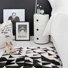 DOWNESSA蒙塔奇诺 设计师原创毛皮拼接地毯图片