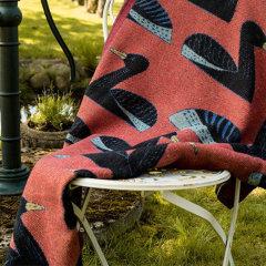 瑞典Ekelund 300年历史品牌  黑色纯棉披毯旅行膝盖毯沙发盖毯床毯Ander披毯图片