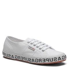【明星款林彦俊同款】SUPERGA/SUPERGA 2019新款 春夏街拍潮流logo包边鞋底百搭帆布鞋 情侣小白鞋图片