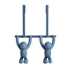 加拿大  umbra 塑料挂钩收纳 BUDDY 伙伴挂门式挂钩双钩 白色 蓝色图片