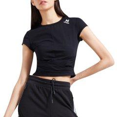 HOTSUIT/后秀 短袖女 2019夏季 短款 露脐圆领T恤 修身显瘦上衣透气图片