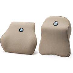 NATU  2018款宝马专用5系528li530525li3系X3X4x6x1颈枕腰靠记忆棉头枕头枕 汽车头枕腰靠图片