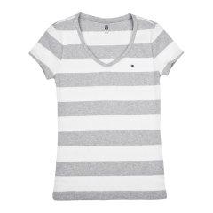 【包税】TOMMY HILFIGER/唐美.希绯格  女士经典条纹短袖T恤 RM37652672图片