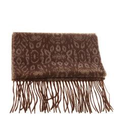 【包邮免税】Ozwear UGG时尚保暖美丽诺羊毛围巾 黄褐色花纹图片