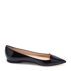 Jimmy Choo/周仰杰漆皮材质尖头设计女士平跟鞋单鞋图片