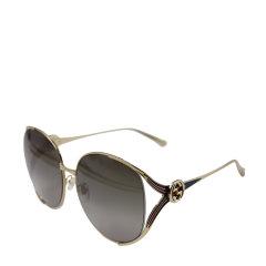 【新品】GUCCI/古驰 (南法巴黎风情款)(别致镂空双G互扣式设计)略显高贵女士太阳镜眼镜0225S图片
