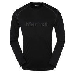MARMOT/土拨鼠新款男式排汗腋下透气网面透气速干T恤长袖圆领防晒F54310图片