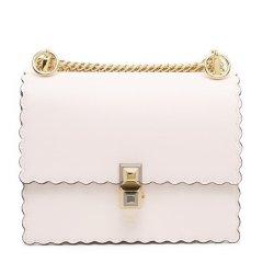 Fendi /芬迪 女士纯色小牛皮波浪纹边缘设计单肩斜挎链条包图片