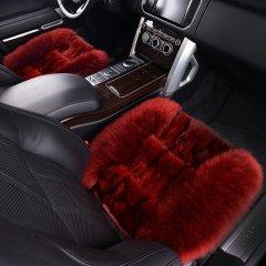 pinganzhe   汽车新款澳洲进口秋冬季狐狸毛加羊毛三件套座垫 汽车冬季保暖座垫咖啡色. 全部图片