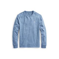 Ralph Lauren/拉夫劳伦 小马标纯棉男士长袖修身T恤414723 L 浅蓝色图片