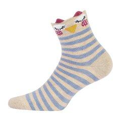 GATTA/GATTA欧洲进口女士可爱棉袜 条纹多色拼色短袜图片