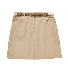 HAZZYS/哈吉斯  夏季新款短裙时尚英伦女士半身裙附腰带ABQST07BT01图片