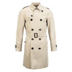 BURBERRY/博柏利纯棉双排扣设计经典中长款男士风衣图片