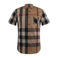 BURBERRY/博柏利  男士时尚休闲经典格子短袖衬衫 4045837图片