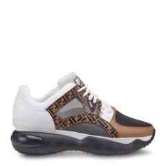 FENDI/芬迪 男士拼色logo小牛皮运动鞋 7E1217-A63W-F15V9图片