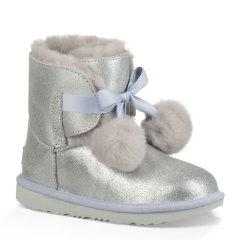 【包税】UGG/UGG毛球雪地靴中童鞋 亲子秋冬新款欧美时尚套脚保暖短靴  童鞋儿童棉鞋/靴子 1019701图片