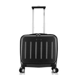 ROCKLAND/洛克兰 BF29系列 黑色宝蓝银色碳纤维 中性款式商务休闲行李箱拉杆箱登机箱 万向轮 海关锁 聚碳酸酯 16寸图片