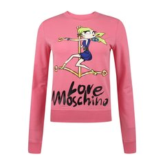 Love Moschino/Love Moschino  女士时尚休闲棉质卡通女孩字母印花长袖套头卫衣 W630207 00M88图片
