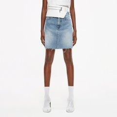 MO&Co./摩安珂女士半身裙2019夏季新品A字裙破洞做旧牛仔半身裙MAI2SKT015图片