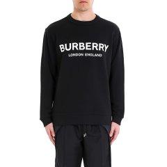 BURBERRY/博柏利 20年秋冬 套头 男性 LOGO 打底衫 黑色 男卫衣 8011357 A1189图片