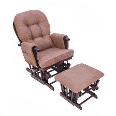 INNESS/英尼斯实木午睡休闲摇椅舒适麂皮绒躺椅懒人沙发图片