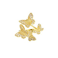 Galtiscopio/迦堤 戒指新品个性时尚 欧美立体蝴蝶戒指指环女图片