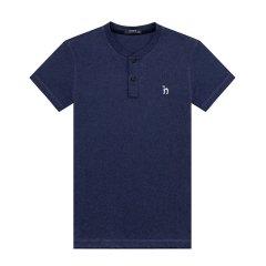 HAZZYS/哈吉斯新款夏季圆领修身纯色时尚潮流韩版纯棉男士短袖T恤ASTZE08BE80图片