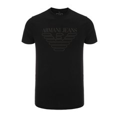 【17秋冬新款】ARMANI JEANS/阿玛尼牛仔男士短袖T恤-男士牛仔系列T恤棉图片