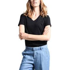 【包税】TOMMY HILFIGER/唐美.希绯格  女士经典纯色V领短袖T恤 RM37652670图片