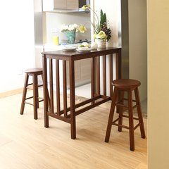 INNESS/英尼斯原装进口实木吧台餐桌组合现代简约0.95米 一桌两凳图片