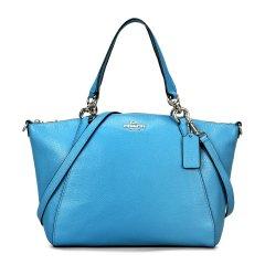 COACH/蔻驰  饺子包 女士纯色牛皮手提包 28993 可单肩斜挎 深蓝色图片