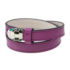 【包税】BVLGARI/宝格丽  女士多色小牛皮手镯 283284紫色 S图片