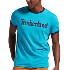 【包税】Timberland/添柏岚  户外男士圆领撞色LOGO字母短袖T恤 TB0A1M6M图片