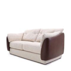 """慕容-""""Shell贝壳""""沙发系列头层牛皮、记忆海绵、北欧简约现代沙发(升级版三人、双人、单人)图片"""