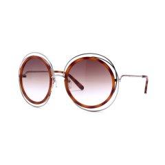 CHLOE/克洛伊太阳镜 CE120S女士圆框墨镜 时尚镂空金属框眼镜 海报款众明星同款图片