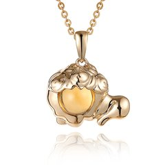 ENZO/ENZO十二星座彩宝宝石9K黄金宝石吊坠(多款可选)图片