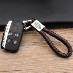 pinganzhe 路虎专用汽车新款带车标钥匙扣 手编织真牛皮钥匙链 钥匙圈锁匙环 男士女士 创意 汽车用品图片